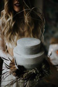 Concrete Buttercream Wedding Cake